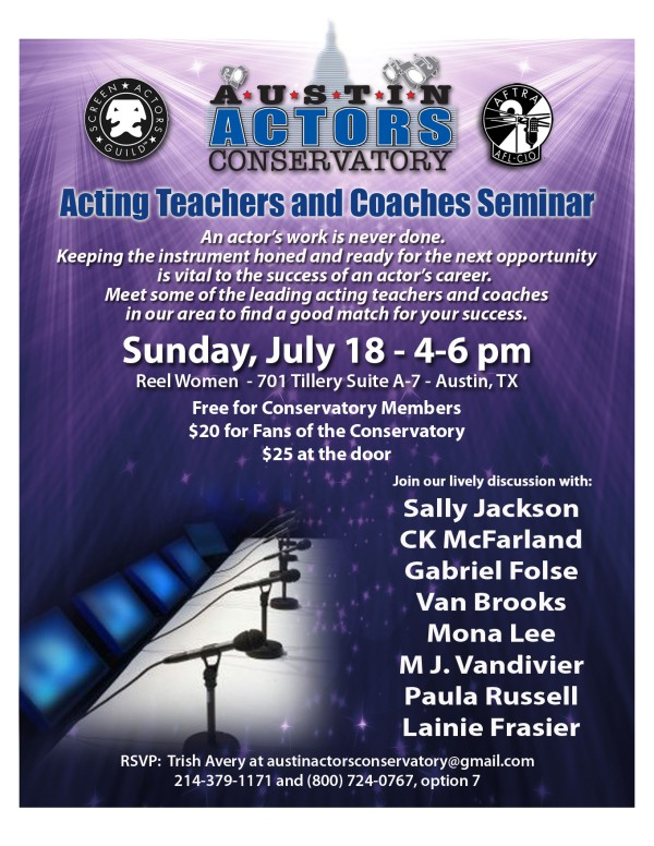 Austin Acting Teachers and Coaches Seminar
